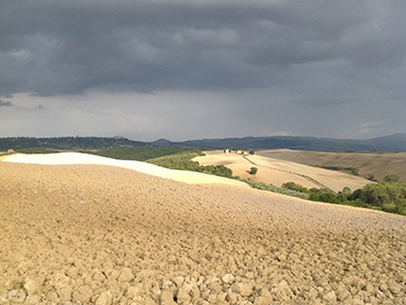 View of Tuscany during our plein air painting workshop in Italy by Walk the Arts
