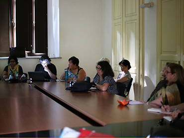 Students during an art lecture during our educational tour in Italy