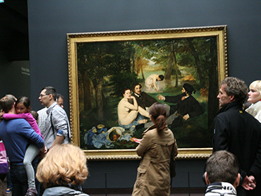 Visiting the Orsay Museum in Paris during our educational art tour