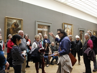 Prof. Yves M. Larocque with a group of participants of our art bus tour New York Trip from Ottawa