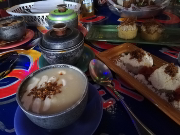 Typical Colombian Coastal food dishes during Walk the Arts workshop for artists all levels and foodies in South America