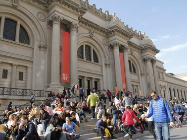 Visiting the Metropolitan Museum during our annual bus tour from Ottawa to New York City
