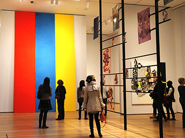 Visiting the Whitney Museum during our art tour to New York City from Ottawa